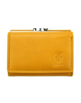 Marta leather wallet - Yellow