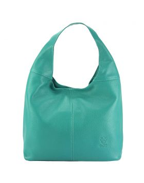 The Caïssa leather bag - Turquoise