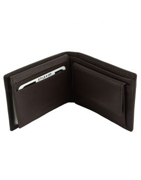 Saffiro Mini leather wallet - Dark Brown