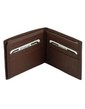 Ezio Leather Wallet - Brown