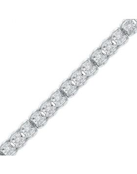 10kt White Gold Womens Round Diamond Tennis Bracelet 1/2 Cttw