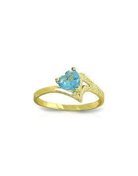0.95 Carat 14K Gold Ring Natural Blue Topaz