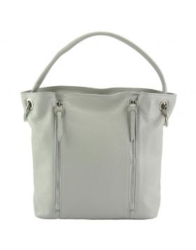 Silvia leather bag - Grey