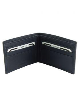 Ernesto leather wallet - Blue