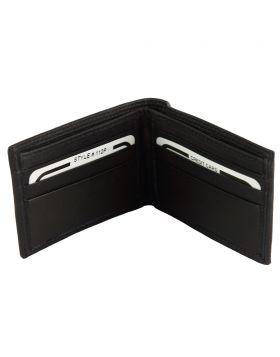 Ernesto leather wallet- Black