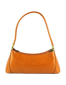 Cirilla leather handbag - Orange