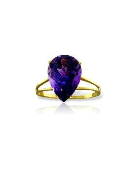 5 Carat 14K Gold Not Just Slightly Amethyst Ring