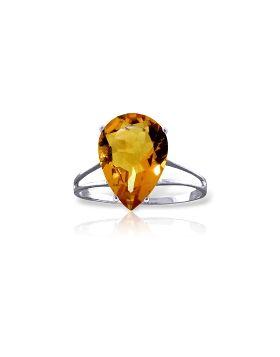 5 Carat 14K White Gold Licks Of Love Citrine Ring