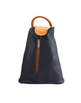 Michela leather Backpack - Blue/Yellow