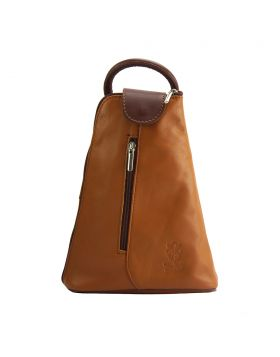 Michela leather Backpack - Tan
