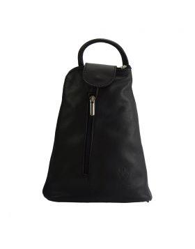 Michela leather Backpack - Black
