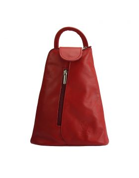 Michela leather Backpack - Red