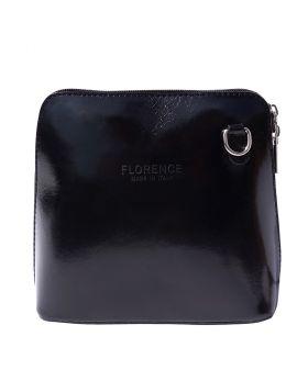 Dalida leather crossbody bag - Black