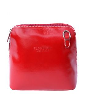 Dalida leather crossbody bag - Red