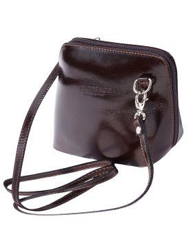 Dalida leather crossbody bag - Dark Brown