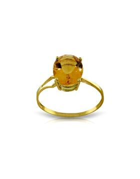 2.2 Carat 14K Gold Exclamations Citrine Ring