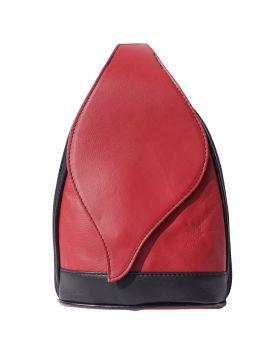 Foglia GM Leather Backpack - Red/Black