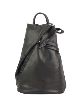 Fiorella leather backpack - Black