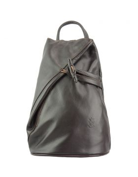 Fiorella leather backpack - Dark Brown