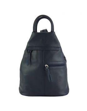 Sorbonne leather Backpack - Blue