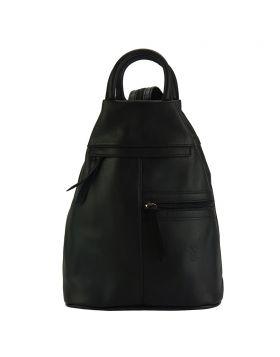 Sorbonne leather Backpack - Black