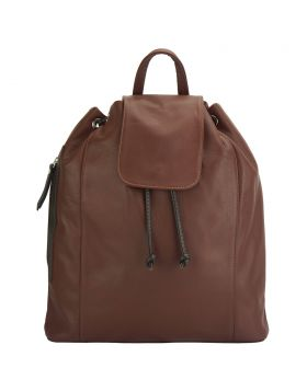 Ginevra leather Backpack - Brown