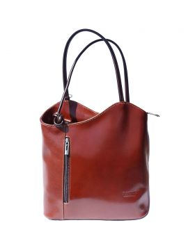 Cloe leather shoulder bag - Brown/Dark Brown