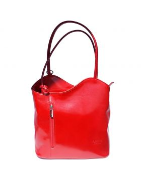 Cloe leather shoulder bag - Red