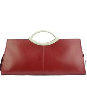 Cipressino leather handbag- Dark Red