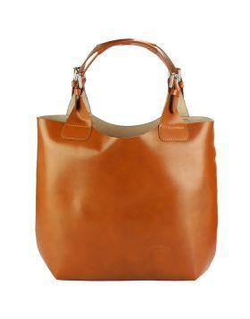 Beatrice leather Handbag - Tan