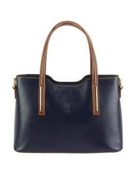 Emily leather Handbag - Blue