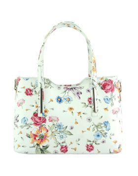 Emily leather Handbag - Floral