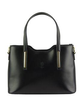 Emily leather Handbag - Black