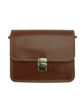 Diana leather Crossbody bag - Brown
