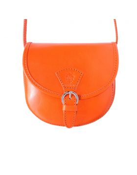Adina leather crossbody bag - Orange