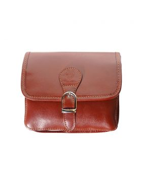 Lady leather shoulder bag  - Brown