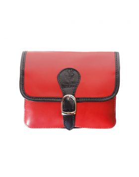 Lady leather shoulder bag  - Red/Black