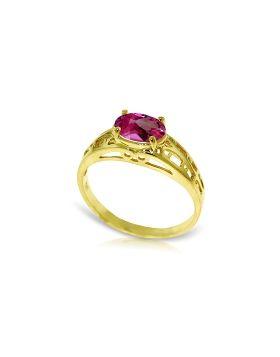 1.15 Carat 14K Gold Filigree Ring Natural Pink Topaz
