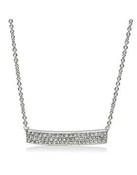 3W079-16 - Brass Rhodium Necklace AAA Grade CZ Clear