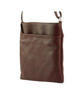 Gioia Cross-body leather bag - Brown