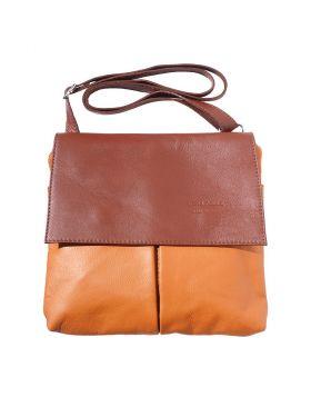 Oriana leather shoulder bag - Tan/Brown