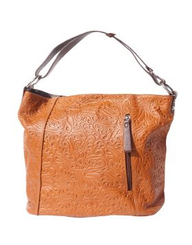 Lisa leather shoulder bag - Tan/Brown