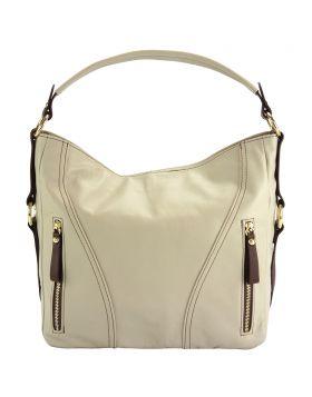 Sabrina GM leather shoulder bag - Beige