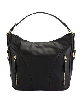 Sabrina GM leather shoulder bag - Black