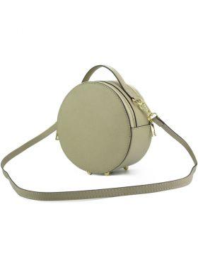 Bice Leather Handbag - Taupe