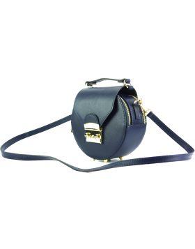 Cora Leather Handbag - Blue