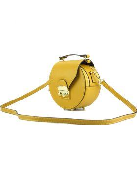 Cora Leather Handbag - Yellow