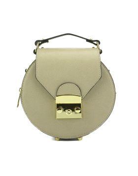 Cora Leather Handbag - Taupe