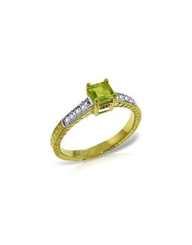0.65 Carat 14K Gold Drown In You Peridot Diamond Ring