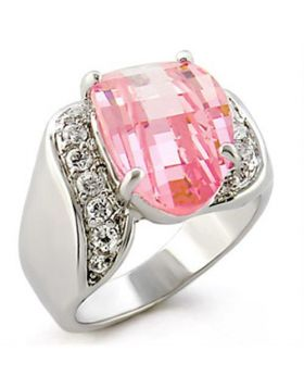 Ring 925 Sterling Silver High-Polished AAA Grade CZ Rose